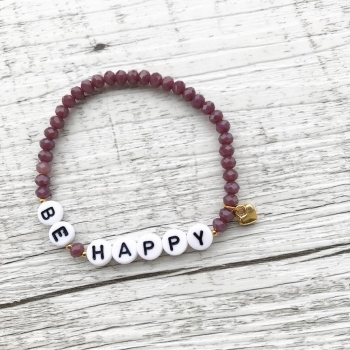 "Buchstabenarmband ""Purple Words"""