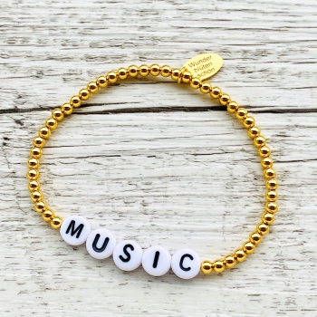 "Buchstabenarmband ""Golden Words"""