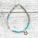 "Armband ""Blue Star"" 925er Sterlingsilber"